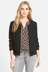 Gibson Collarless Layered Front Jacket Black