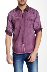Lee Cooper Shadow Dye Button Down Shirt Red