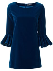 Capucci Flare Sleeve Dress Blue