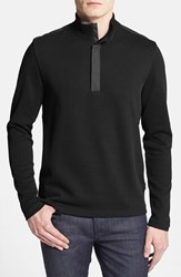 Men's Boss 'Persano' Regular Fit Quarter Zip Sweatshirt Black