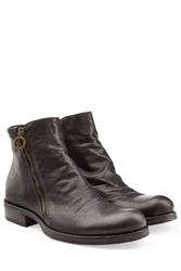 Fiorentini And Baker Leather Ankle Boots With Zip Brown