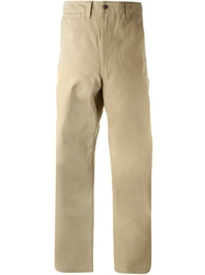 E. Tautz Wide Leg Field Trousers Nude And Neutrals