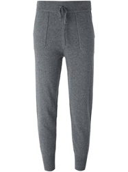 Theory Tapered Track Pants Grey