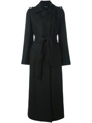 Twin Set Classic Trench Coat Black