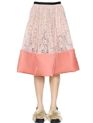 Antonio Marras Lace And Velvet Skirt