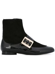 Lanvin Two Tone Ankle Boots Black
