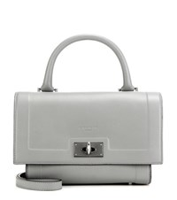Givenchy Shark Mini Leather Tote Grey