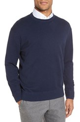 Robert Talbott Men's 'Jersey Sport' Cotton Blend Crewneck Sweater Denim