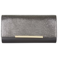 Jaeger Collins Leather Clutch Bag Gunmetal