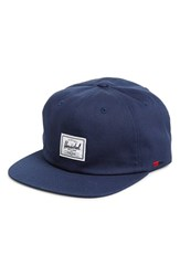 Men's Herschel Supply Co. 'Albert' Cotton Baseball Cap Blue Navy