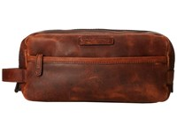 Frye Logan Travel Dopp Large Cognac Antique Pull Up Toiletries Case Brown