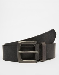 New Look Distressed Leather Belt Black