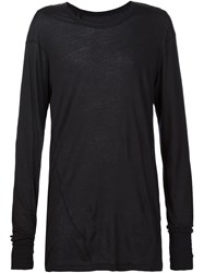 11 By Boris Bidjan Saberi Sheer Long Sleeve T Shirt Black