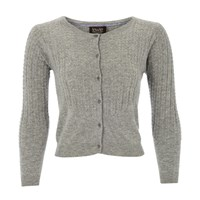 Lowie Grey Cashmere Mix Cardigan