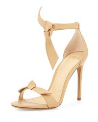 Bow Tie Leather D'orsay Sandal Nude Alexandre Birman Brown