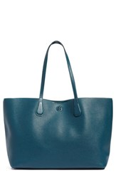 Tory Burch 'Perry' Leather Tote Blue Oceano True Turquoise