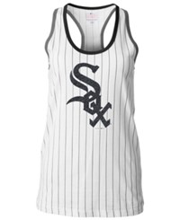 5Th And Ocean Women's Chicago White Sox Pinstripe Glitter Tank Top
