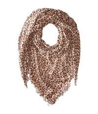Chan Luu Leopard Cashmere And Silk Scarf Crystal Grey Scarves Gray