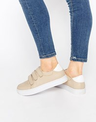 Senso Abigail Ii Nude Leather Trainers Nude Beige