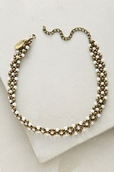 Anthropologie Jasmine Pearl Choker White
