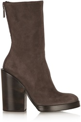 Haider Ackermann Lisse Leather Boots Brown