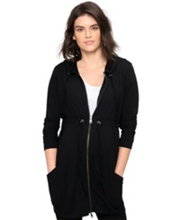 A Pea In The Pod Maternity Hooded Zip Front Cardigan