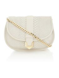 Matthew Williamson Nadia White Snake Crossbody Bag White