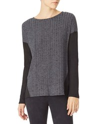 Sanctuary Veronica Ribbed Runner Sweater Charcoal