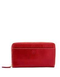 Tusk Leather Zip Around Wallet Red