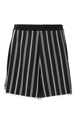 Lanvin Striped Pyjama Shorts Black
