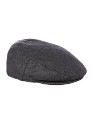 Howick Houndstooth Flat Cap Charcoal