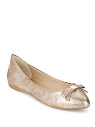 Saks Fifth Avenue Lyvia Bow Flats Gold