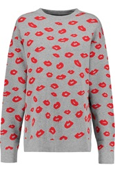 Etre Cecile Lips Intarsia Knit Sweater