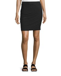 James Perse Ruched Stretch Knit Skirt Black
