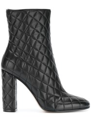 Gianvito Rossi Quilted Ankle Boots Black