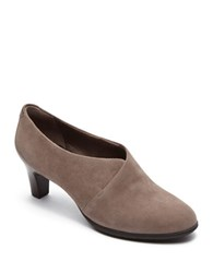 Rockport Melora Suede Slip On Shootie Taupe