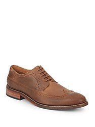 Cole Haan Williams Wingtip Leather Oxfords Camel