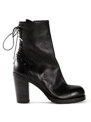 Ink Back Lace Up Boots Black