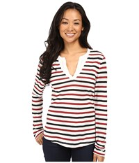 Sanctuary Parisian City T Shirt Black Brick Stripe Women's T Shirt Multi