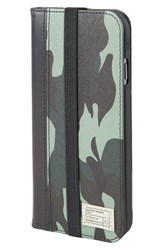 Hex 'Icon' Iphone 6 And 6S Wallet Case Blue Marine Camo Leather