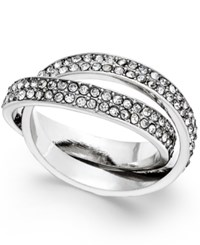 Inc International Concepts Silver Tone Pave Interlocked Ring Only At Macy's