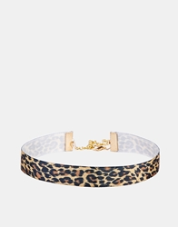 Asos Leopard Print Choker Necklace Multi