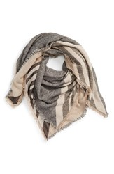 David And Young Women's Stripe Knit Scarf