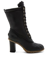 Australia Luxe Collective Havea Tall Heels With Shearling Lining Black