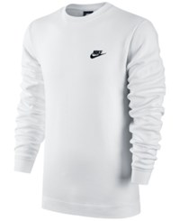Nike Men's Crewneck Fleece Sweatshirt White