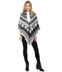 Echo Border Square W Tassels Black Women's Clothing