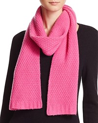 Bloomingdale's C By Waffle Knit Cashmere Scarf Blossom