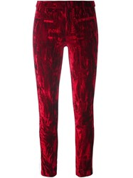 Haider Ackermann Lateral Stripes Leggings Red