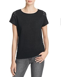 Generation Love Oliver Lace Up Tee Black