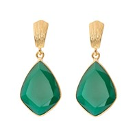 Juvi Glamour Puss Earrings With Green Onyx